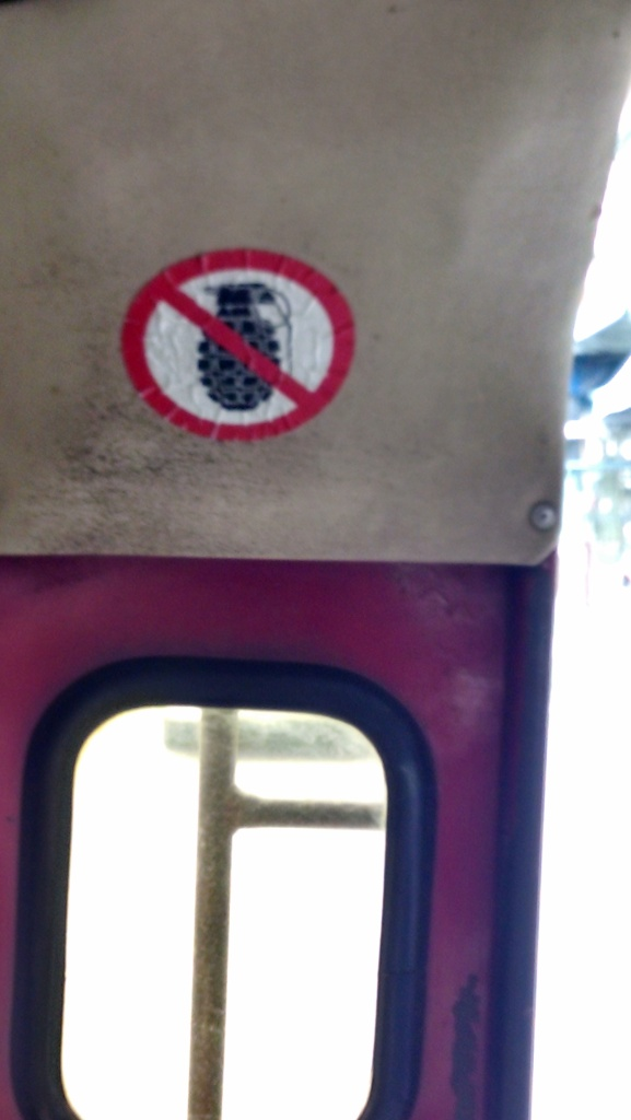 Apparently - grenades are not permitted on the songthaew.