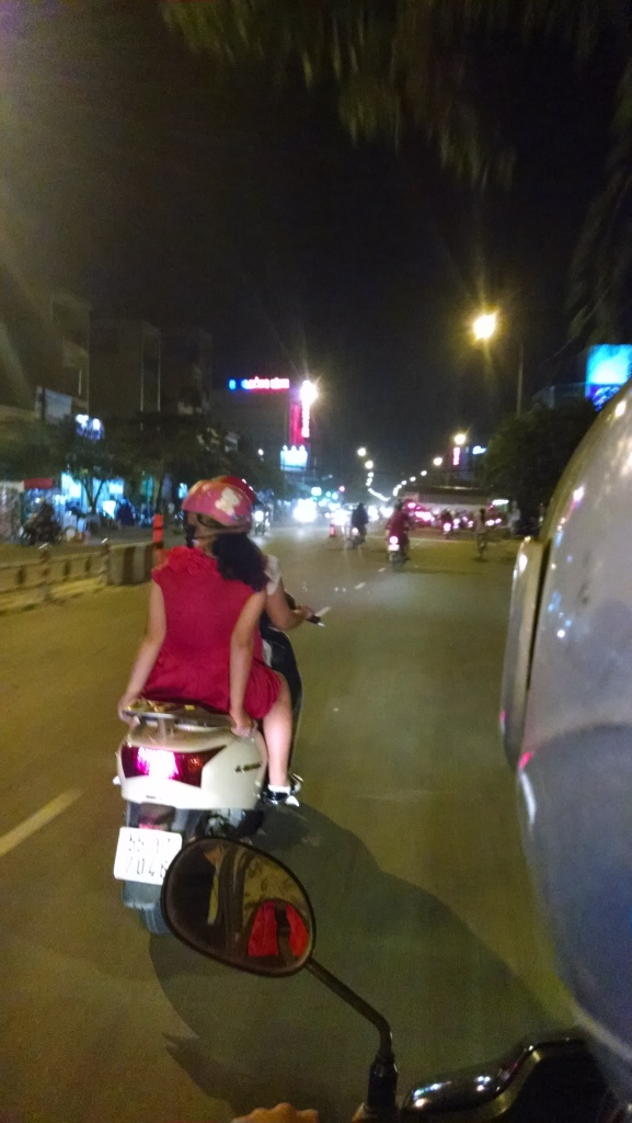 There is nothing like the traffic in Vietnam.  Especially on the back of a motorbike.