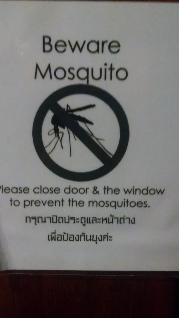 The sign on our cabin door.
